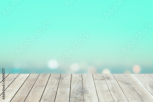 Leinwand Poster Wooden product background