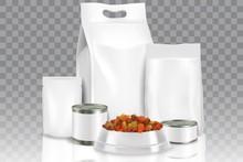 Realistic Pet Food Pack Mock U...