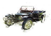 Vintage Retro Classic Old Car ...
