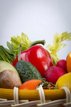 Set Of Vegetables And Fruits.