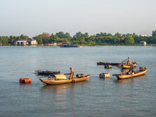 Fishing Boat In The Mekong Riv...