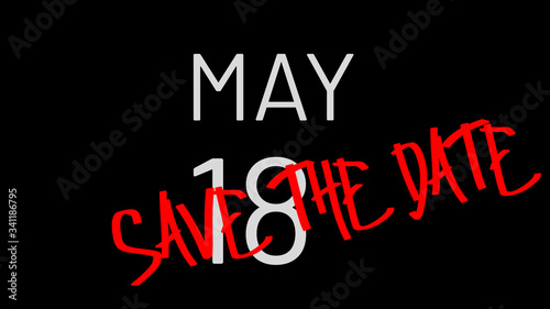 Photo May 18 Save the Date Illustration