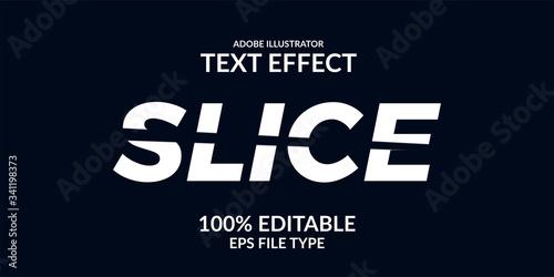 Fototapeta split cut slice editable font text effect adobe illustrator obraz