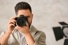 Male Photographer With Profess...
