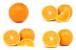 Fresh orange fruit. Orange slice isolated on white background.
