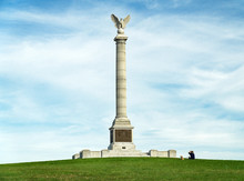 The New York State Monument Honors The Thousands Of Men Who Bravely Fought At The Battle Of Antietam During The American Civil War In Sharpsburg, MD