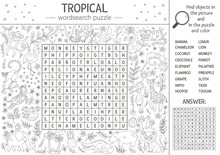 Vector Summer Wordsearch Puzzl...
