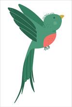 Vector Cute Funny Flying Quetz...
