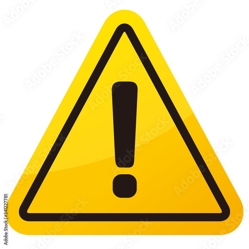 warning sign icon vector triangle Canvas Print