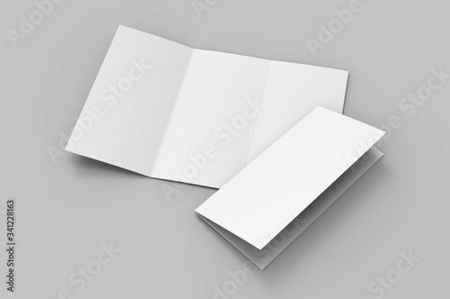Valokuvatapetti Blank tri fold brochure template for mock up and presentation design