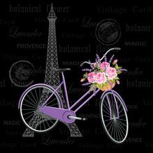 Vintage Postcard With Eiffel T...