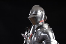 Medieval Knightly Armor, Full Set And Details, Made By An Adult In Full Growth. Milanese Armor Beauchamp