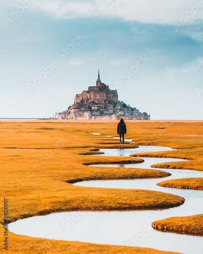 Okleiny na drzwi - Krajobraz - Pejzaż  mont-saint-michel