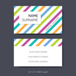 Vector business card template abstract graphic designer concept