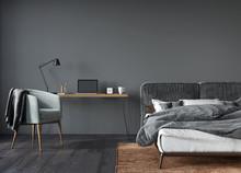 Stylish Bedroom And Work Area ...