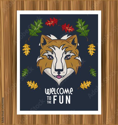 wild she wolf spirit creative design Fototapeta