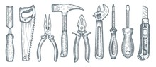 Set Of Hand Tools. Collection ...