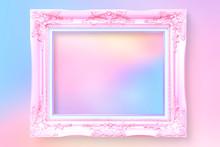Pink Blank Frame Mockup