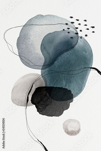 Fototapety, obrazy: Watercolor abstract design