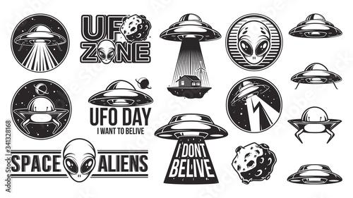 Photo Aliens logo big set