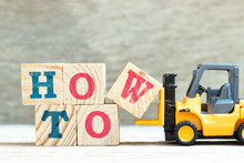 Toy Forklift Hold Letter Block...