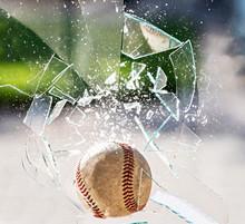 A Baseball Breaking Glass