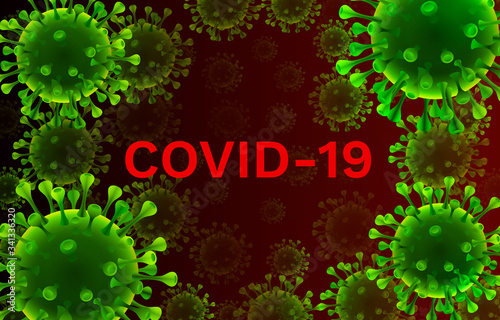 Photo Virus organism danger, biology macro, cover medical.