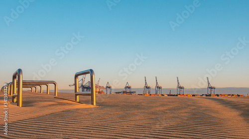 Stogi beach and deep water terminal (DCT Gdansk, Poland. Container facility).