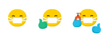 Set Of Emoticons Wearing Surgi...