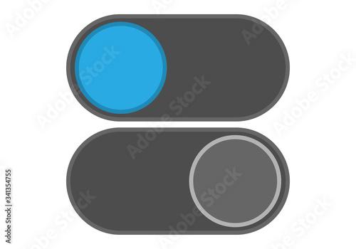 Botón de apagar o encender, o activar y desactivar. Canvas Print