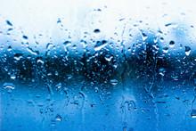 Full Frame Shot Of Wet Glass W...