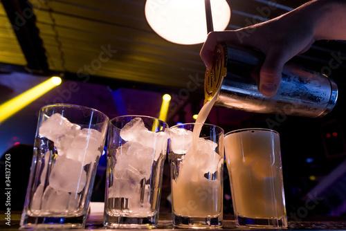 Fotografia, Obraz beautiful cocktail in a night club