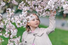Portrait Of Little Girl In A P...