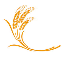 Symbol Of A Gold Ear Of Wheat.