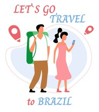 Lets Go Travel To Brazil. Youn...
