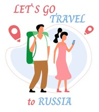 Lets Go Travel To Russia. Youn...