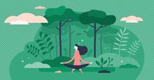 Forest Bathing Vector Illustra...