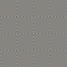 Vector Monochrome Geometric Seamless Pattern With Diagonal Stripes, Lines, Square Tiles. Black And White Minimal Striped Texture. Creative Psychedelic Design. Optical Art. Repeat Background For Decor