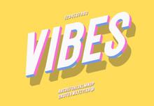 Vector Vibes Font 3d Bold Styl...