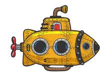Cartoon Steampunk Yellow Subma...