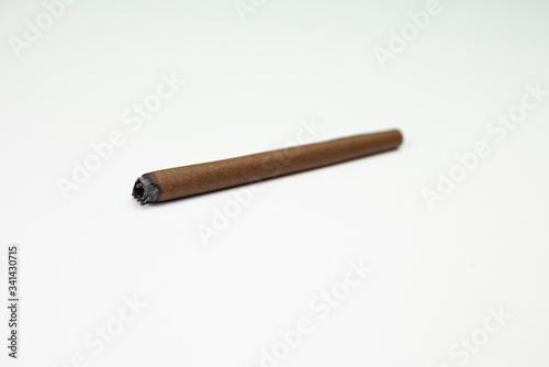 Blunt of marijuana tobacco paper Canvas Print