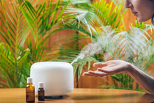 Woman Enjoying Aroma Therapy S...