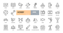 Vector Hobby Icons. Editable S...