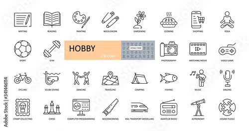 Foto Vector hobby icons