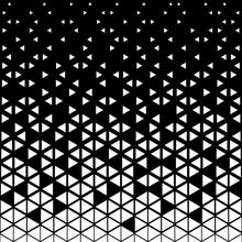 Triangular Geometric Pattern. Black White Triangle Background