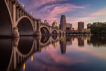Minneapolis Sunset Reflection
