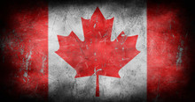 Canada Flag With Grunge Textur...