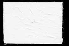 White Paper Poster Mockup Isol...