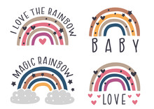 Set Of Isolated Nursery Rainbo...