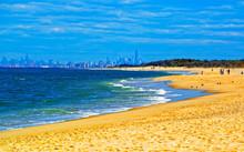 Atlantic Ocean Shore At Sandy ...